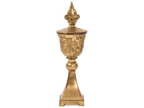 Howard Elliott Ornate Gold Chalice Urn