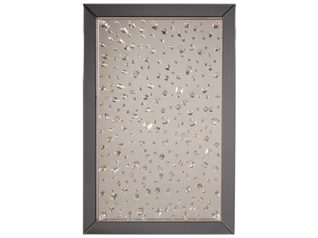 Howard Elliott Bliss Crystal Array 31 x 47 Grey Wall Mirror