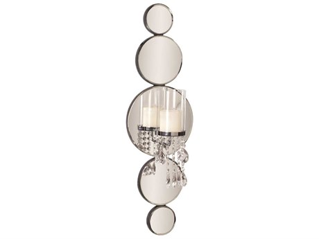 Howard Elliott Mirrored Wall Candle Holder