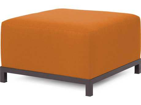 Howard Elliott Axis Sterling Canyon Ottoman - Mahogany Frame