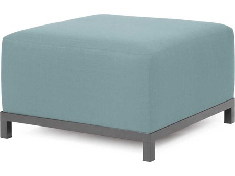Howard Elliott Axis Sterling Breeze Ottoman - Titanium Frame