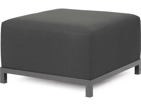Howard Elliott Axis Sterling Charcoal Ottoman - Titanium Frame