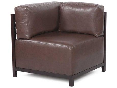 Howard Elliott Axis Avanti Pecan Corner Chair - Mahogany Frame