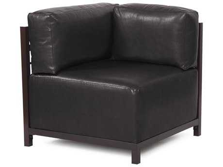 Howard Elliott Axis Avanti Black Corner Chair - Mahogany Frame