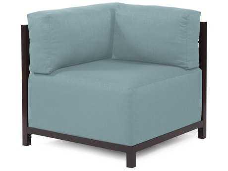 Howard Elliott Axis Sterling Breeze Corner Chair - Mahogany Frame
