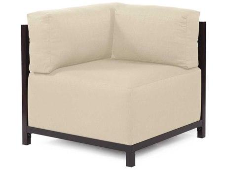 Howard Elliott Axis Sterling Sand Corner Chair - Mahogany Frame