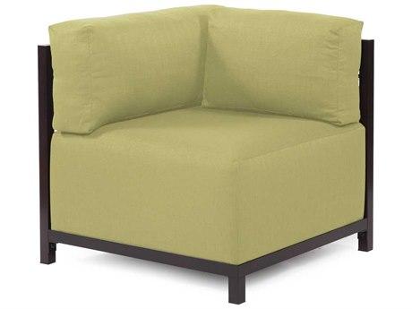 Howard Elliott Axis Sterling Willow Corner Chair - Mahogany Frame
