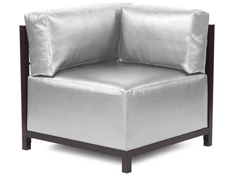 Howard Elliott Axis Shimmer Mercury Corner Chair - Mahogany Frame