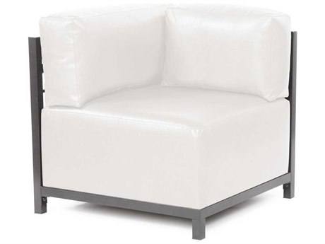 Howard Elliott Axis Avanti White Corner Chair - Titanium Frame