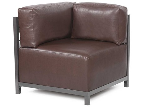 Howard Elliott Axis Avanti Pecan Corner Chair - Titanium Frame