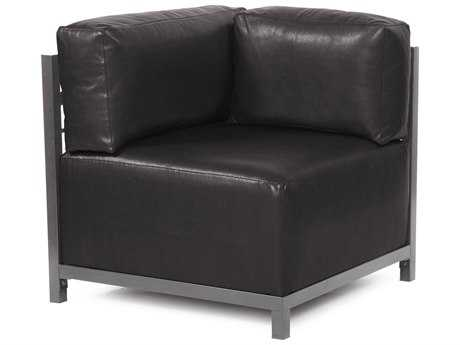 Howard Elliott Axis Avanti Black Corner Chair - Titanium Frame