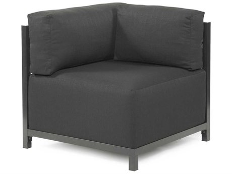 Howard Elliott Axis Sterling Charcoal Corner Chair - Titanium Frame