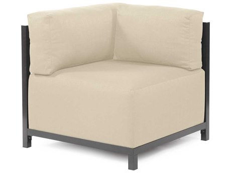 Howard Elliott Axis Sterling Sand Corner Chair - Titanium Frame