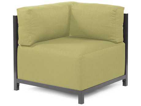 Howard Elliott Axis Sterling Willow Corner Chair - Titanium Frame