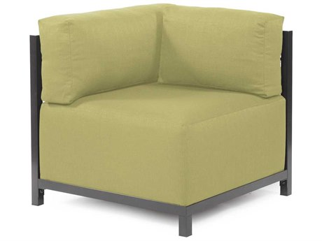 Howard Elliott Axis Sterling Willow Corner Chair - Titanium Frame