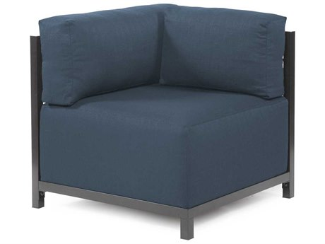 Howard Elliott Axis Sterling Indigo Corner Chair - Titanium Frame
