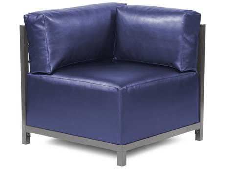 Howard Elliott Axis Shimmer Sapphire Corner Chair - Titanium Frame