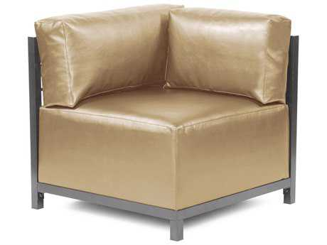 Howard Elliott Axis Shimmer Gold Corner Chair - Titanium Frame