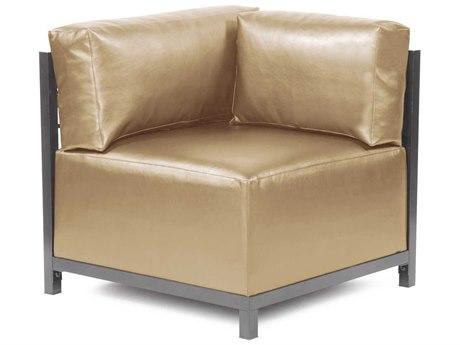 Howard Elliott Axis Shimmer Gold Corner Chair - Titanium Frame