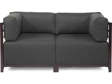 Howard Elliott Sterling Charcoal Axis Two-Piece Sectional Sofa