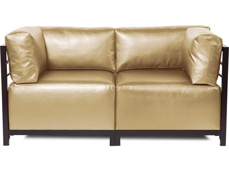 Howard Elliott Axis Shimmer Gold Two-Piece Sectional Sofa