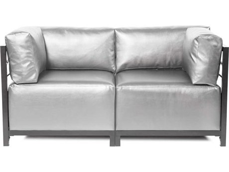 Howard Elliott Axis Shimmer Mercury Two-Piece Sectional Sofa