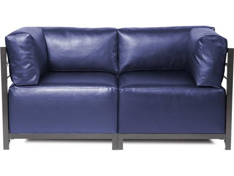 Howard Elliott Axis Shimmer Sapphire Two-Piece Sectional Sofa