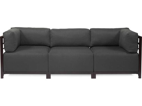 Howard Elliott Sterling Charcoal Axis Three-Piece Sectional Sofa