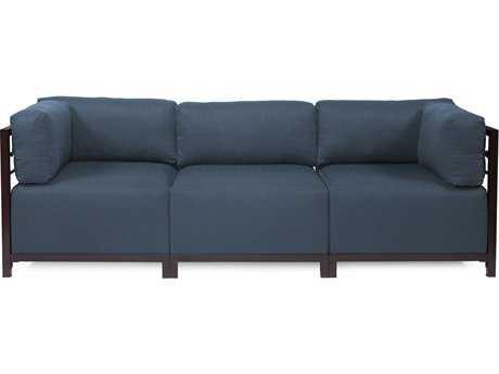 Howard Elliott Axis Sterling Indigo Three-Piece Sectional Sofa