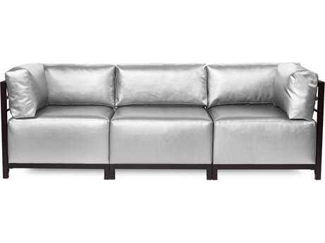 Howard Elliott Axis Shimmer Mercury Three-Piece Sectional Sofa