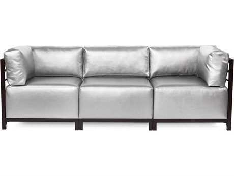 Howard Elliott Axis Shimmer Mercury Three-Piece Sectional Sofa