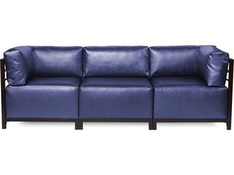 Howard Elliott Axis Shimmer Sapphire Three-Piece Sectional Sofa