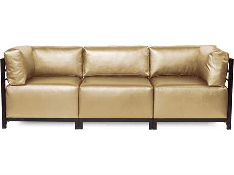 Howard Elliott Axis Shimmer Gold Three-Piece Sectional Sofa