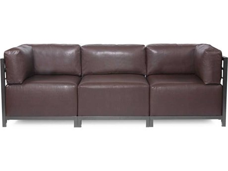 Howard Elliott Axis Avanti Pecan Three-Piece Sectional Sofa