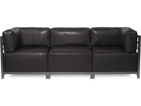 Howard Elliott Axis Avanti Black Three-Piece Sectional Sofa
