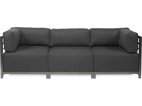 Howard Elliott Axis Sterling Charcoal Three-Piece Sectional Sofa