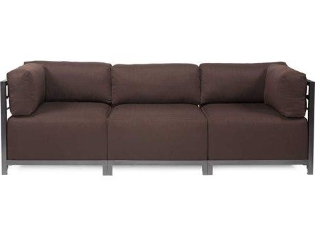 Howard Elliott Axis Sterling Chocolate Three-Piece Sectional Sofa
