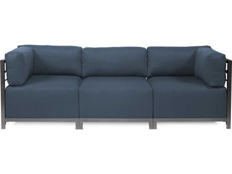 Howard Elliott Axis Sterling Indigo Three-Piece Sectional Sofa