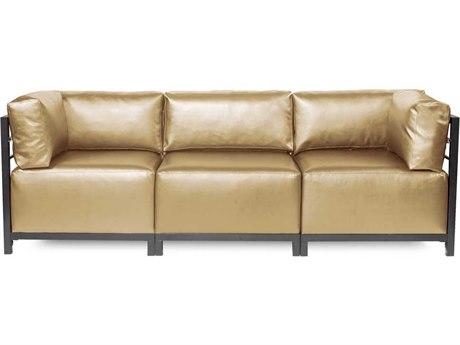 Howard Elliott Axis Shimmer Gold Three-Piece Sectional Sofa