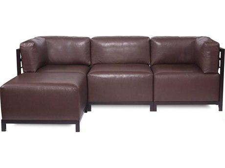 Howard Elliott Axis Avanti Pecan Four-Piece Sectional Sofa