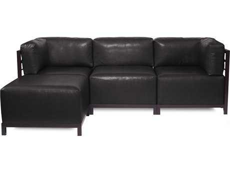 Howard Elliott Axis Avanti Black Four-Piece Sectional Sofa