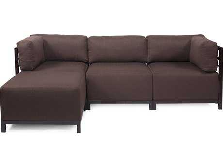 Howard Elliott Axis Sterling Chocolate Four-Piece Sectional Sofa