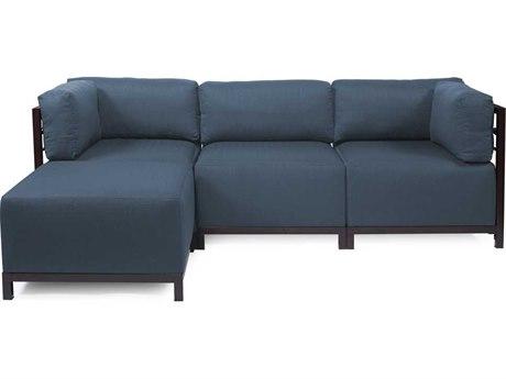 Howard Elliott Axis Sterling Indigo Four-Piece Sectional Sofa