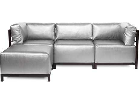 Howard Elliott Axis Shimmer Mercury Four-Piece Sectional Sofa