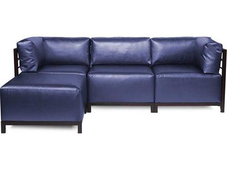 Howard Elliott Axis Shimmer Sapphire Four-Piece Sectional Sofa