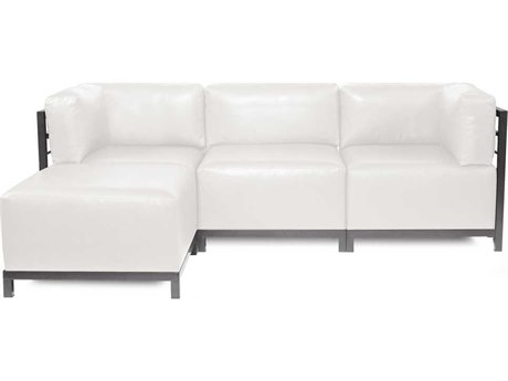 Howard Elliott Axis Avanti White Axis Sectional Sofa