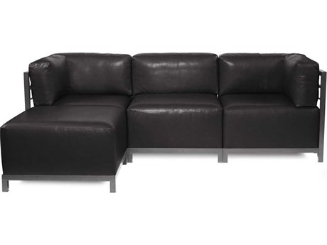 Howard Elliott Axis Avanti Black Four-Piece Sectional Sofa