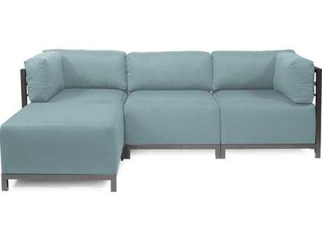 Howard Elliott Axis Sterling Breeze Four-Piece Sectional Sofa