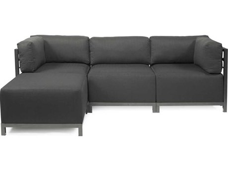 Howard Elliott Axis Sterling Charcoal Four-Piece Sectional Sofa