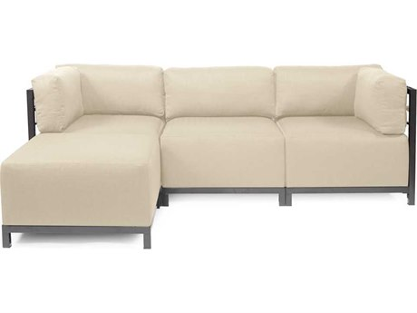 Howard Elliott Axis Sterling Sand Four-Piece Sectional Sofa